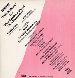 The back cover of the 45